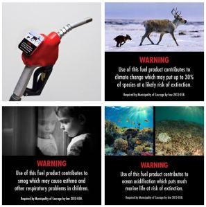Gas pump warnings